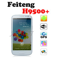 WCDMA Thai Android Feiteng H9500+ 5 Inch IPS HD Screen MTK6589 Quad Core 1GB RAM 4GB ROM 12.6MP Camera Android 4.2.1 I9500 S4 Android Phone
