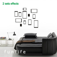 Wholesale funlife Acrylic Crystal D art wall sticker decoration creative DIY wall stickers bedroom wall decoration Set