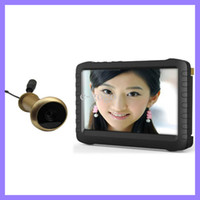 Wholesale 5 G Wireless Door Peephole Camera with DVR m range degree VOA lux inch screen X600pix motion detect recording