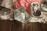Wholesale Audrey Hepburn painting series Mini Tin Box Retro Metal Jewelry Case Storage Case styles