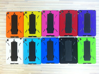 Wholesale Robot Case Stand Holder Hard Rubber Shell for Apple iPad Mini Hybrid PC TPU Cases New Arrival