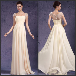 Noble New Arrival Long Chiffon Evening Dress Formal Gown Mother Of The Bride Dress Short Sleeve Crystals Beading