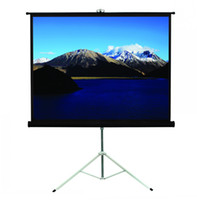 Wholesale Portable Tripod screen Metal Squaretube Octagonal housing Projection screens Projector screens