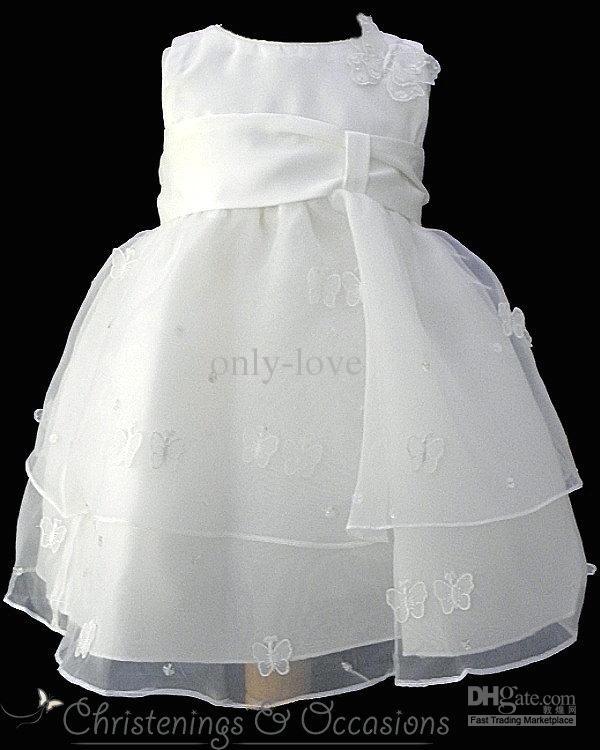 Cheap White A Line Chrisom Baby Infant Christening Dresses Jewel ...