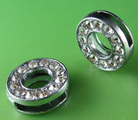 Wholesale 20PCS quot O quot Full Rhinestone MM Slide Letters SL041 Fit DIY Wristbnad Bracelet LSSL02 O