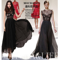Wholesale 2013 Fashion Bohemia women s dress beach dress maxi lace dress ladies evening party dress long summer dress women s clothing