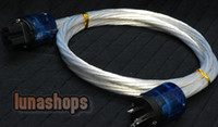 Cable HiFi  Custom Handmade Acrolink Silver Plated Power cable For Tube amplifier CD Player AK-bs675
