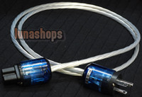 Cable power cable  Custom Handmade Acrolink Silver Plated Power cable For Tube amplifier CD Player AK-bs34