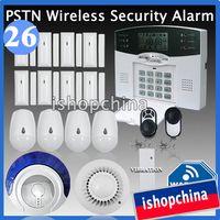 Wireless Yes Yes 40 Zones DIY PSTN Landline Wireless Home Security Burglar Intruder Alert Alarm System Fire Alarm Vibration Detector iHome328M26