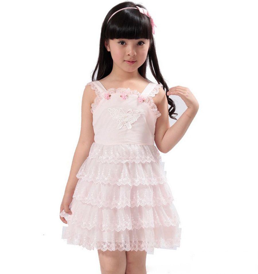 Children kids baby girls summer lace clothes brand new fashion 2013