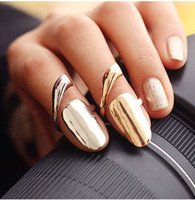 Wholesale Fashion individuality finger nail Ring high quality Korean bare surface Rings jewelry LM_ R043