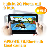 Android 4.0 other other 9 inch Tablet PC 2G phone call GPS Dual Cameras Multi Touch Wifi Bluetooth MTK6515