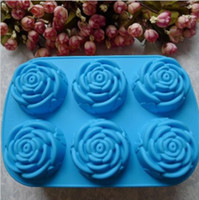 Wholesale Silicone Cake Mould Rose Cake Mold Baking Molds Chocolate Pudding Jelly Moulds