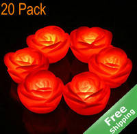 Wholesale LED Flameless Candle Light Rose Design Wedding celebration