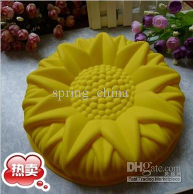 Silicone Cake Mould 9 6inch Sunflower Cake Mold Pudding Jelly Molds Baking Mold Silicone Cake Mold Online With 63 39 Piece On Spring China S Store