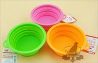 Wholesale High Grade Fold Pet Bowl High Quality Folding Dog Bowl Pet Food Dish Pet Feeders