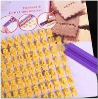 Modelling Tools alphabet number mat - Wholsesale Cake Decorating Tools D Alphabet number letter Gum Paste Silicon Embossed Fondant Imprint Mat