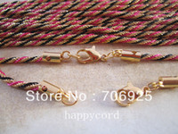 Wholesale 20pieces color BeautifuL NEW cm multicolour necklace chain mmx2mm with lobster claps