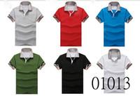 Men Short Sleeve 100% Cotton 2013 latest Men lapel T-shirt soft elastic pure cotton ventilate sport casual T-shirt M-XXL free shipping