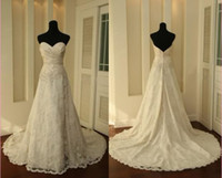 Wholesale Hot sale Modern A Line Wedding dresses Sweetheart Tea length Lace Applique White Bridal Ball Gown Wedding Dresses bridesmaid dress GA113