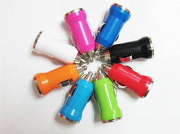 USB Charger bullet mini Car Charger chargers for E Cigarette i Phone 5 5s ipad ipod MP3 Samsung Electronics
