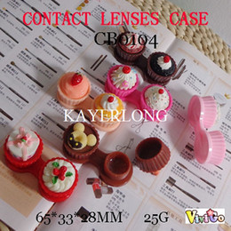 Wholesale CB0104 cute cake contact lens cases