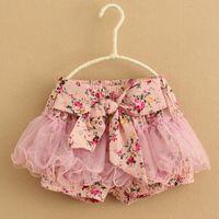 baby girl kids pettiskirt tutu skirt cotton vintage flower f...