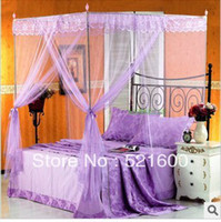 Wholesale Square door Opened Mosquito Net Stainless Steel Bracket Floor Palace Mosquito Stopping Net