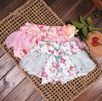 baby girl kids pettiskirt tutu skirt cotton vintage flower f...