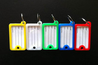 Wholesale 500Pcs sides Plastic Rectangle Keychains luggage tag key ID Label for hotel