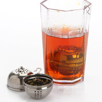 Wholesale price Freeship stainless steel ball shaped tea infuser spice loose leaf filter