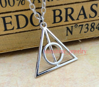 Wholesale 2013 Silver Deathly Hallows Pendant Necklace harry potter new arrival
