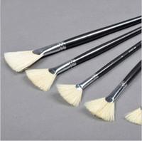 Wholesale Advanced bristle fan pen single fan shaped pen oil painting basic