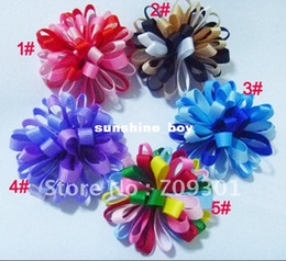 Wholesale Ribbon Flowers Hair Clips Baby Flower Hair Clips cm Colors U Pick Cheapest Price