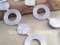 Traditional Charm bali silver chains - silver color Plated Metal Bali Style Beautiful Round Tibetan Chain mmx30mm feet t