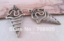 Wholesale Antique bronze ice cream pendant charm mmx46mm pieces