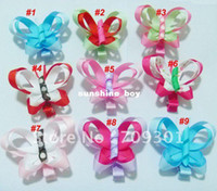 butterfly hair clip - 3 quot Two Layer Ribbon Butterfly Hair Clips Butterfly Hair Clips Hairclips Hair Accessory Cheapest Pri