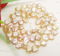 Wholesale FREE S H pink keshi pearl bead Loose gem mm