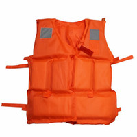 Wholesale Professional Orange Foam Swimming Adult Life Jacket with Whistle Drop shipping