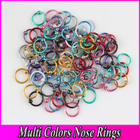 Wholesale CBR Nipple Labret Lip Nose Ring Piercing Body Jewelry Nose Ring Titanium Anodized Captive Bead Ring