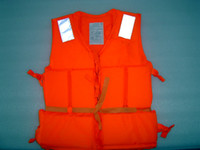 Life Vest   Free Shipping-Professional Orange Foam Swimming children Life Jacket with Whistle Drop shipping