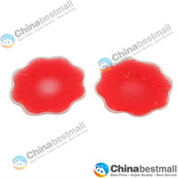Women Silicone  High Quality Silicone Nipple Cover Bra Pad- Red