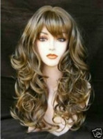 Asian Wigs long blonde curly wig - BLONDE brown MIXED long curly cosplay wig