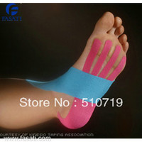 Wholesale 10pcs kinesiology tape tape kinesi tex tape cm cm line kinesio precut fast delivery good quality CE ISO certificeted
