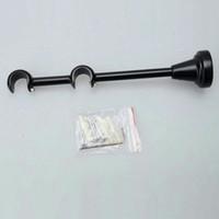 Wholesale 16mm Generally Use Curtain Rod Dual Bracket Black