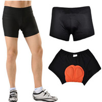 Wholesale Unisex Black Bicycle Bike Cycling Shorts Underwear Pants Gel D Padded Coolmax