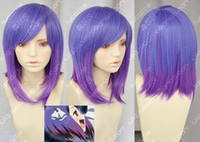 Wholesale NEW purple mix short straight cosplay wig