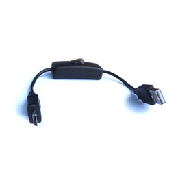 Wholesale 10pcs black USB A male to micro usb male power adapter cable with on off switch