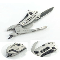 Wholesale NEW Stainless Steel SMulti Outdoor Tool Set Adjustable Wrench Jaw Screwdriver Pliers Knife Survival