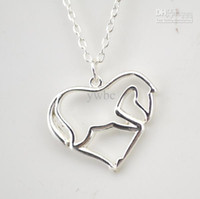 Pendant Necklaces horse jewelry - 30 a silver plated animal heart shape horse pendant necklaces jewelry cm chain